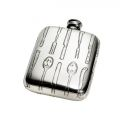 Knife Fork Spoon Pewter Pocket Flask 4oz