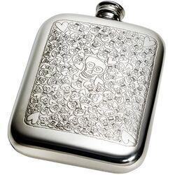 Love Skull Pocket Flask