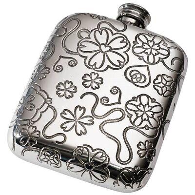 Yorkshire Rose Pocket Flask