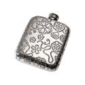 Yorkshire Rose Pewter Pocket Flask