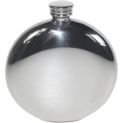 Monarch of the Glen Round Picture Flask