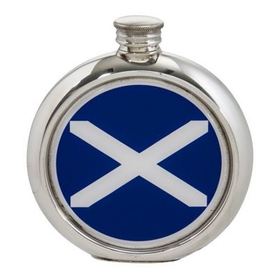 St Andrews Flag Round Picture Flask