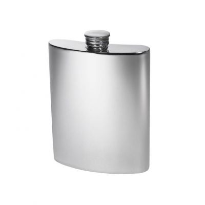 Plain Kidney Hip Flask 6oz