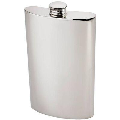 Plain Kidney Hip Flask 8oz