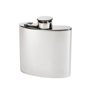 Plain Kidney Hip Flask With Captive Top 4oz