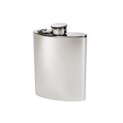 Plain Kidney Hip Flask With Captive Top 6oz