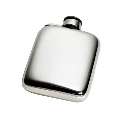 Plain Pocket Flask With Captive Top 4oz